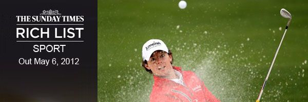 Richest Golfers In UK 2012 – Sunday Times Rich List