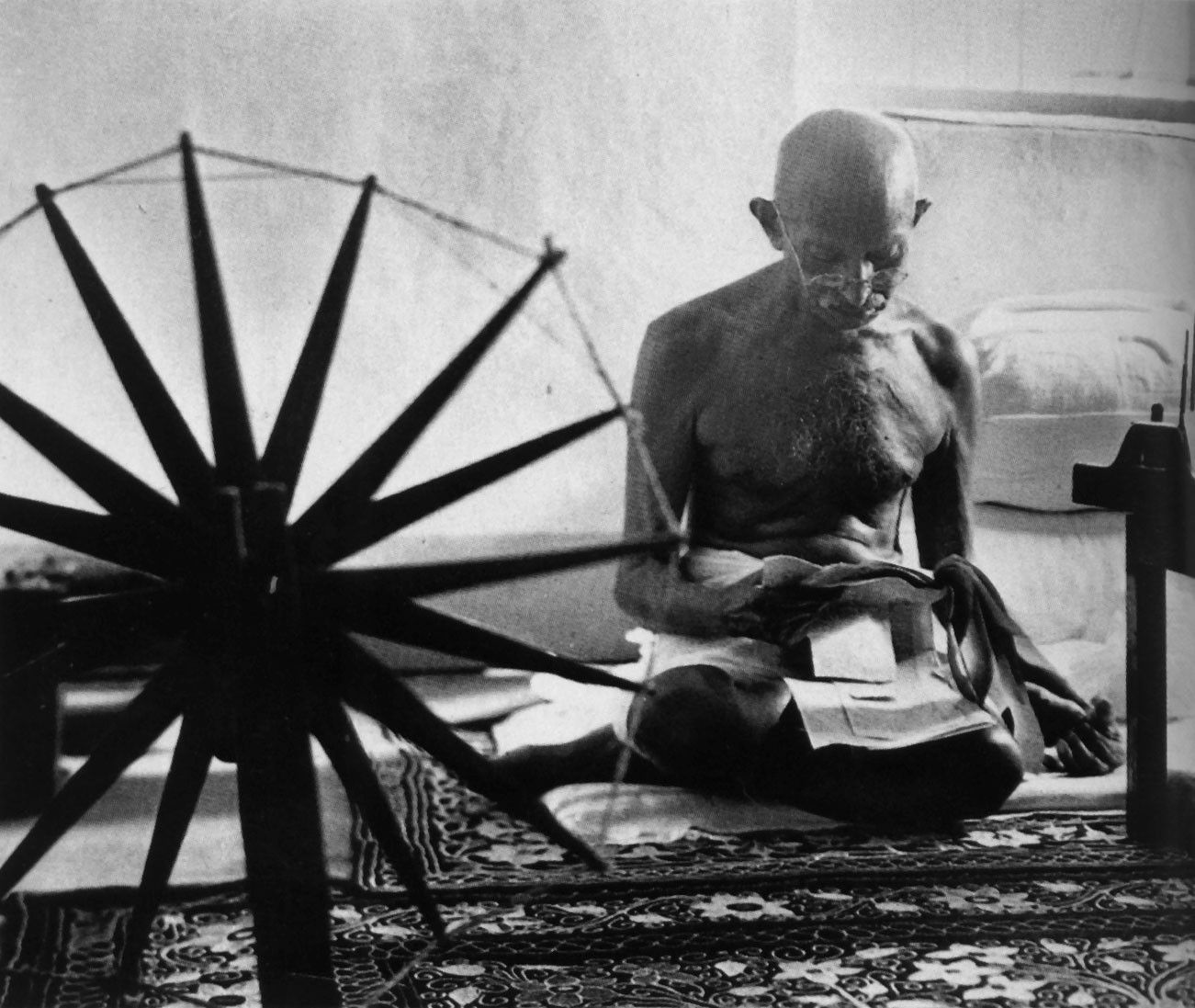 Gandhi at his Spinning Wheel - Margaret Bourke-White