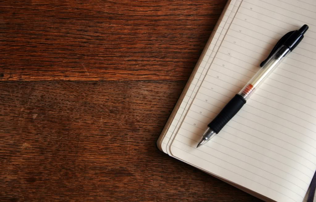 notebook-on-wood
