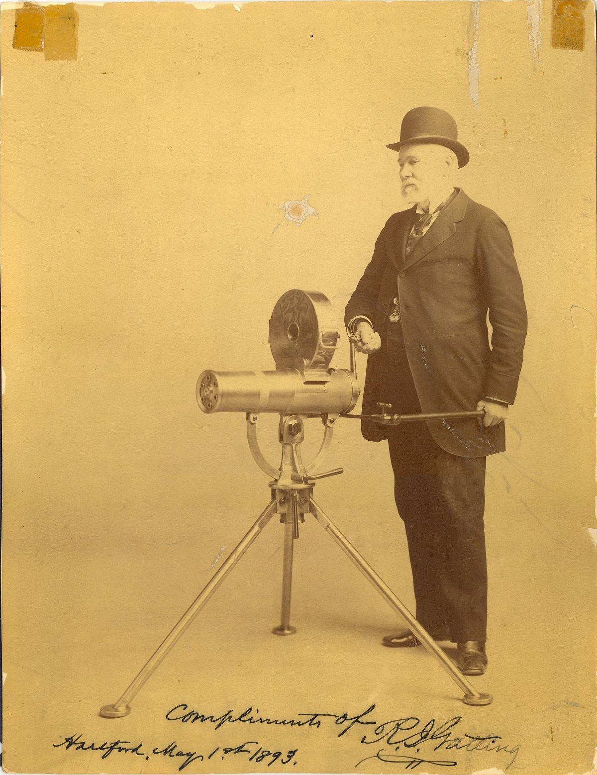 10. Richard Gatling – The Gatling Gun