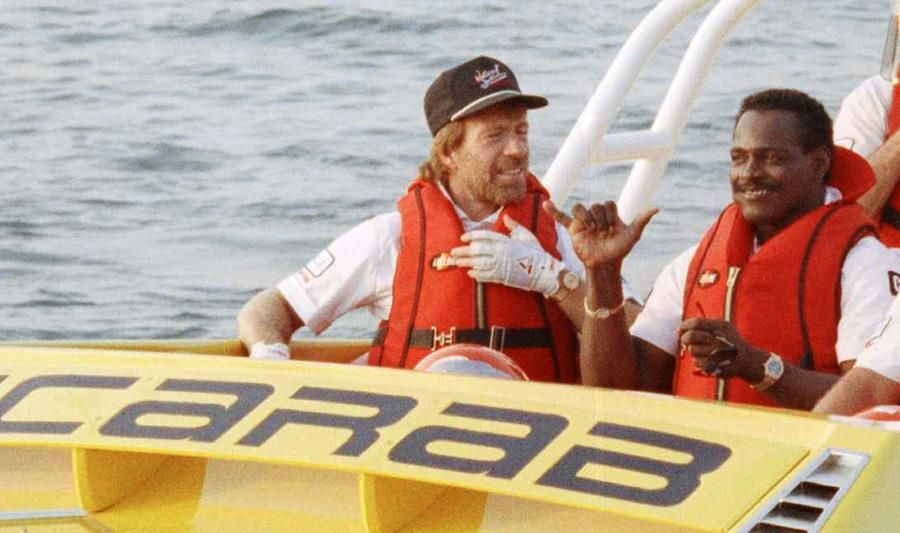 4. Chuck Norris is a Powerboat Rider and Enthusiast