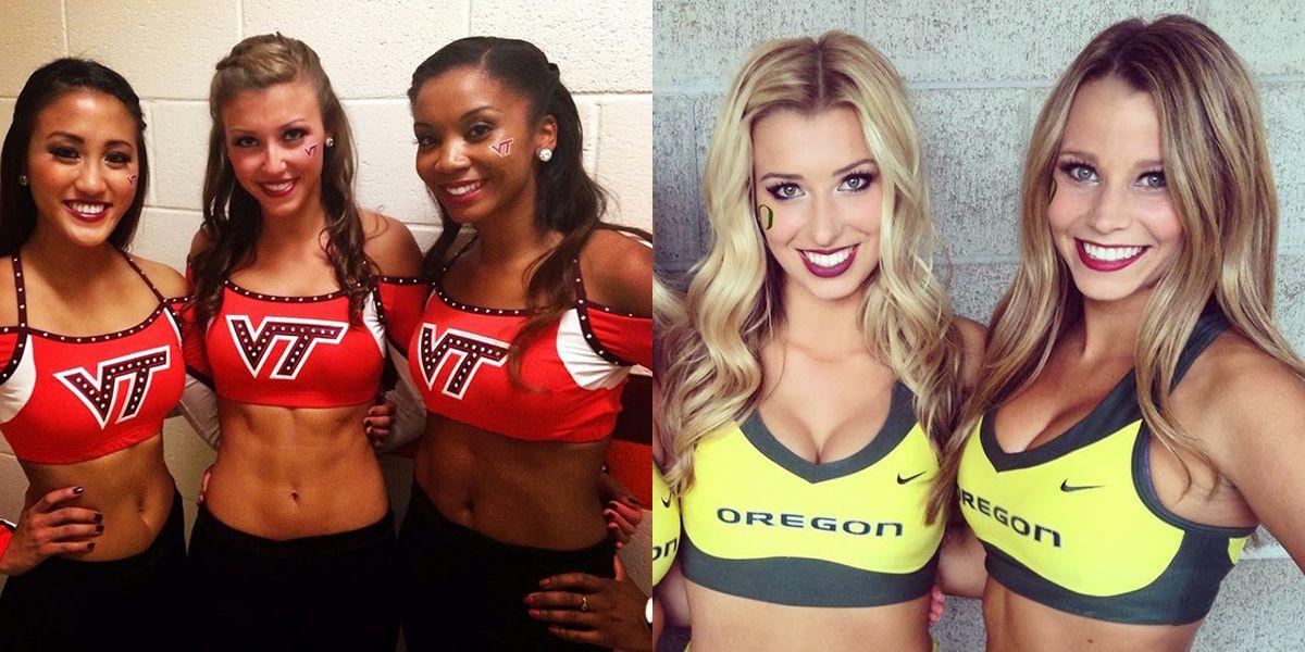 Hot college cheerleader