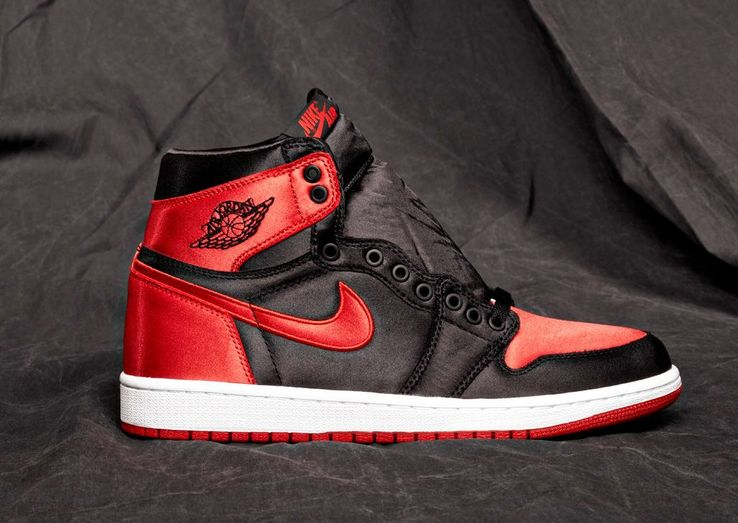 sneakers for cheap 76139 3e82a A posh sneaker like this, off hand, should be kept in its box  no one wants  to dirty a pair of red and black satin Air Jordan 1s.
