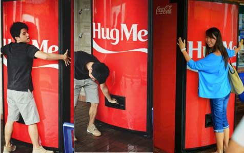 Coca-Cola-Hug-Machine