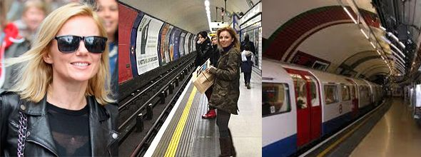 Geri Halliwell in the Tube Station after 17 Long Years